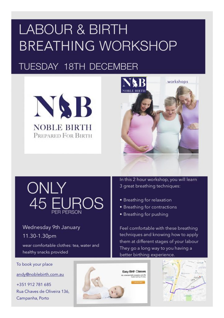 A workshop to learn 3 simple breathing exercises to improve sleeping during pregnancy, for use during labour and to use for birth.